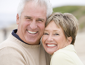 mature couple happy to have found each other
