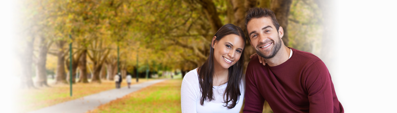 Couple in Hagley park in Christchurch